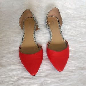NEW ❗️ Red And Spotted D'orsay Flat